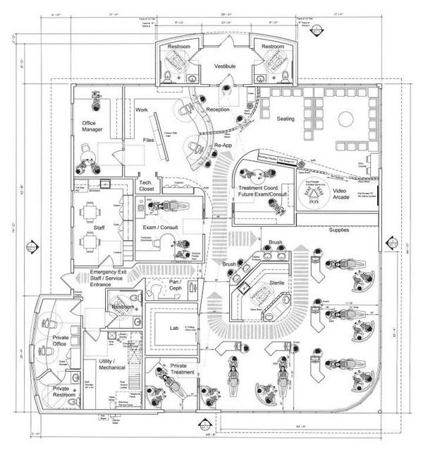 办公室装修知识网-办公空间设计的基本尺度与平面分配-中华网部落格;