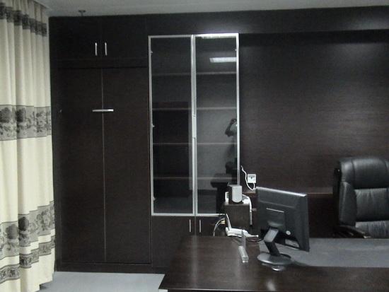 办公空间立面设计元素 壁柜配图-办公室装修图片
