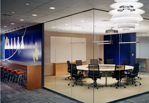 办公空间装饰用灯配图-办公室装修图片