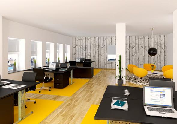 办公空间设计的界面处理-办公室装修3