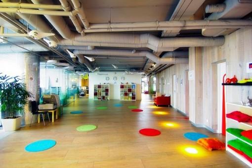 国外办公室装修设计欣赏:google俄罗斯办公室